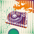 Background with turntable. Royalty Free Stock Photography