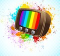 Background with tv Royalty Free Stock Image