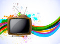 Background with tv Stock Photo