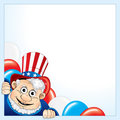 Background with uncle Sam Stock Photography