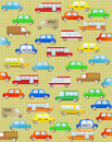 Background with urban colorful transport Stock Image