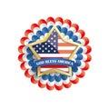Background USA Golden Star Bunting Flag White