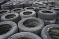 Background of used car tires Stock Images