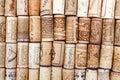 Background of used wine corks Royalty Free Stock Photo