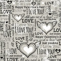 Background with valentine heart and wishes text vector illustration Stock Image