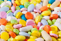 Background of various kind of colorful pills Royalty Free Stock Photo