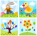 Background vector illustration of a beautiful easter Stock Images