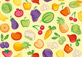 Background with vegetables and fruit Royalty Free Stock Photo