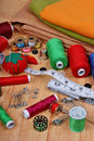 Background vertical with sewing items Stock Image