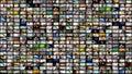 Video wall media streaming Royalty Free Stock Photo