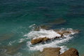 Background View at Cape Trafalgrar turquoise sea ocean white foa