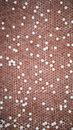 Background of a vintage ceramic mosaic of red color Royalty Free Stock Photo