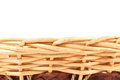 Background vintage weave wicker basket there is white space for text Stock Image