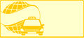 Background for visiting card taxi Stock Image