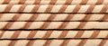 Background of waffle rolls close up horizontal Royalty Free Stock Images