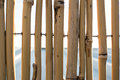 Background wall of bamboo sticks Royalty Free Stock Photo