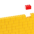 Background wall made of toy blocks Royalty Free Stock Images