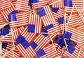 Background texture - a jumble of American flag toothpicks