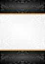 Background white and black with ornaments Royalty Free Stock Images