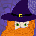 Background with witch vector this is file of eps format Stock Photography