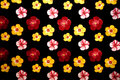 Background witn multicolored flowers Stock Images