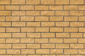 Background of yellow bricks Royalty Free Stock Photo