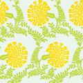 Background with yellow flowers seamless texture vector Stock Photography