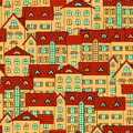 Background with yellow houses Royalty Free Stock Photo