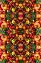 Background of yellow, red, pink tomatoes, large and small cherry Royalty Free Stock Photo