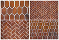 Backgrounds of ceramic tiles set Stock Photo