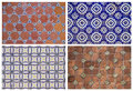 Backgrounds of ceramic tiles set Royalty Free Stock Images
