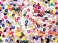 Backgrounds from costume jewellery Stock Image