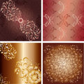 Backgrounds with floral pattern leaves and swirls Royalty Free Stock Photo