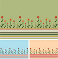 Backgrounds lines and flowers Stock Photo