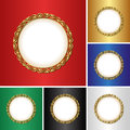Backgrounds set of with golden frame Royalty Free Stock Photo
