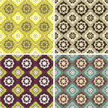 Backgrounds set seamless pattern this is file of eps format Royalty Free Stock Photography