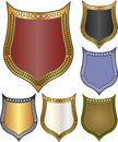 Backgrounds shield set of vector illustration Stock Photography