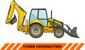 Backhoe loader. Heavy construction machines