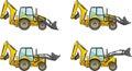 Backhoe loaders. Heavy construction machines