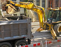 Backhoe in operation Royalty Free Stock Images