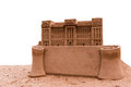 Backingham palace sand castle replica of the isolated on the white background Stock Image