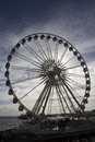 Backlit big wheel seafront brighton Royalty Free Stock Photos