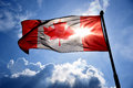 Backlit Canadian flag Royalty Free Stock Photo