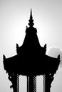 Backlit of Khmer roof temple with sky, Phnom Penh. Cambodia Royalty Free Stock Photo