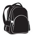 Backpack black on white background Royalty Free Stock Photo