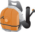 Backpack leaf blower Stock Photos