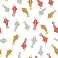 Backs of multicolored bright red gold and silvery carps on a white background Royalty Free Stock Photo