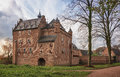The backside of Doorwerth Castle in The Netherlands Royalty Free Stock Photo