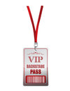Backstage pass vip illustration design over a white background Stock Image