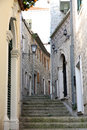 Backstreet in old town of Herceg Novi, Montenegro Royalty Free Stock Photo